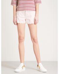 Maje | Shafto High-rise Denim Shorts | Lyst