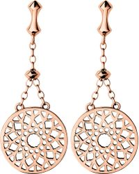 Links of London - Timeless 18ct Rose-gold Vermeil Earrings - Lyst