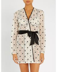 Myla - Bloomsbury Way Tulle And Guipure-lace Robe - Lyst