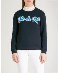 Claudie Pierlot - Ile De Ré Cotton-blend Sweatshirt - Lyst