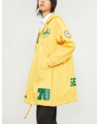 Undercover - Motif-print Hooded Shell Coat - Lyst