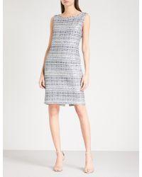 St. John - Metallic Tweed Dress - Lyst