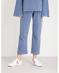 Stateside - Twisted Wide-leg Mid-rise Cotton-jersey Trousers - Lyst
