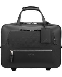 Smythson - Greenwich Lacquered Cotton And Calf Leather Business Trolley - Lyst