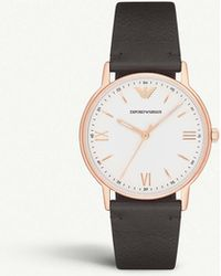 Emporio Armani - Ar11011 Rose-gold Plated Stainless Steel Watch - Lyst