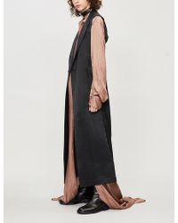 Isabel Benenato - Sleeveless Linen And Silk-blend Coat - Lyst