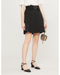 Claudie Pierlot - Bow-belted A-line Crepe Skirt - Lyst