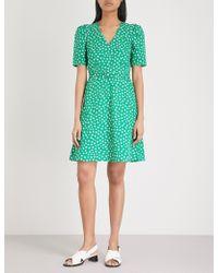 Claudie Pierlot - Floral-print Belted Cotton Mini Dress - Lyst