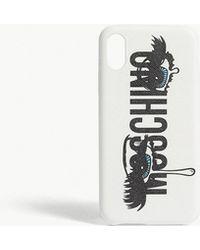 Moschino - Eye Lashes Logo Iphone X Case - Lyst