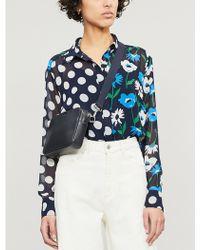 a02098458cc423 Kitri - Adela Polka Dot And Floral-print Crepe Shirt - Lyst