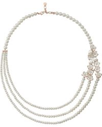 Shaun Leane - Silver And Gold Cherry Blossom Diamond Necklace - Lyst