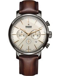 Rado - R14076106 Diamaster Ceramic And Leather Watch - Lyst