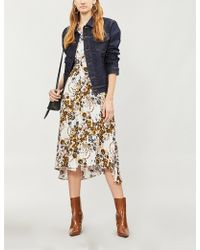 Free People - Tough Love Floral-pattern Crepe Shirt Dress - Lyst