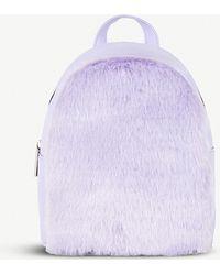 Skinnydip London - Lilac Faux-fur Mini Backpack - Lyst