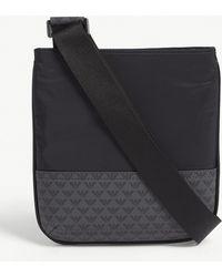 e912c8b64f1f Emporio Armani - Logo-print Faux-leather Cross-body Bag - Lyst