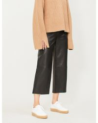 Vince - High-rise Leather Culottes - Lyst