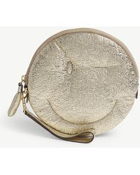 Anya Hindmarch - Chubby Wink Metallic Leather Clutch - Lyst
