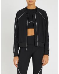 GOOD AMERICAN - Electric Jersey Bomber Jacket - Lyst