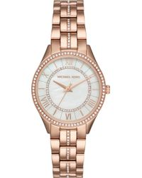 Michael Kors - Mk3718 Rose Gold-toned Stainless Steel Watch - Lyst