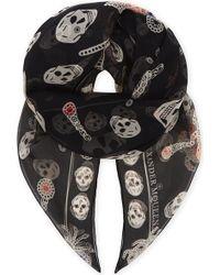 Alexander McQueen   Skull And Spider Silk Scarf   Lyst