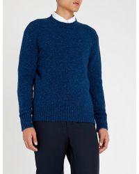 AMI - Donegal Flecked Wool Jumper - Lyst