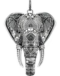 Thomas Sabo Elephant Head Sterling Silver - Metallic