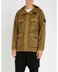 Stone Island - Hooded Shell Jacket - Lyst