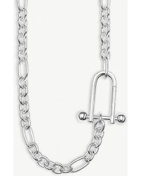 Thomas Sabo - Clasp-pendant Sterling Silver Necklace - Lyst