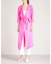 We Are Leone - Tallulah Trench Silk-satin Jacket - Lyst