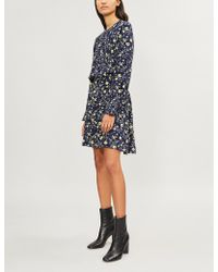 Zadig & Voltaire - Floral-print Gathered-waist Crepe Dress - Lyst