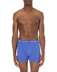 CALVIN KLEIN 205W39NYC - Pack Of Three Stretch-cotton Trunks - Lyst