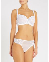 Aubade - Wandering Comfort Embroidered Stretch-tulle And Lace Bra - Lyst