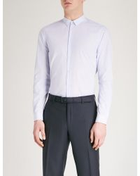 The Kooples - Micro Pattern Slim-fit Cotton Shirt - Lyst