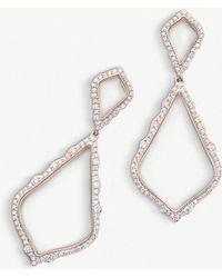 Kendra Scott - Alexa 14ct Rose-gold And Diamond Earrings - Lyst