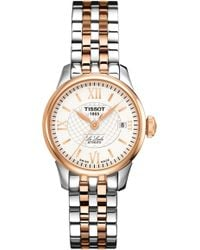 Tissot - T41.2.183.33 Le Locle Rose Gold-plated And Stainless Steel Watch - Lyst