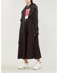 House of Holland - Graphic-back Oversized Crepe Trench Coat - Lyst