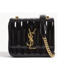 Saint Laurent - Monogram Vicky Small Patent Leather Cross-body Bag - Lyst 6dd173564115c