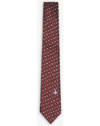 Vivienne Westwood - Two-tone Polka-dot And Orb Silk Tie - Lyst