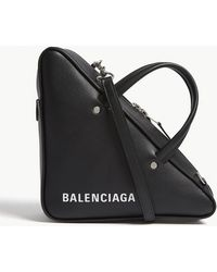 Balenciaga - Triangle S Leather Shoulder Bag - Lyst