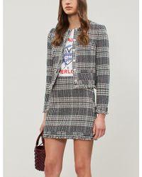 Claudie Pierlot Siena High-waist Tweed Skirt