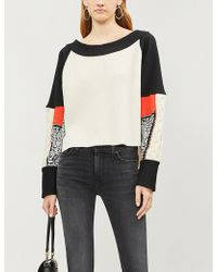 Free People - Josie Stretch-knit And Cotton-jersey Jumper - Lyst