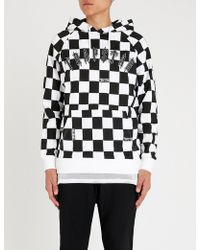 Trapstar - Irongate Checkerboard Cotton-jersey Hoody - Lyst
