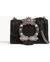 baad12daaea Miu Miu - Miu Ladies Black Lady Matelassé Leather Shoulder Bag - Lyst