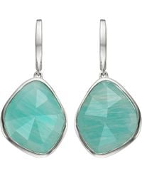Monica Vinader - Siren Sterling Silver Amazonite Nugget Earrings - Lyst