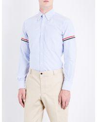 Thom Browne - Signature-stripe Armband Regular-fit Cotton Shirt - Lyst