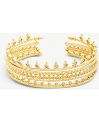 Kendra Scott - Delphine 14ct Gold-plated And Cubic Zirconia Bracelet - Lyst