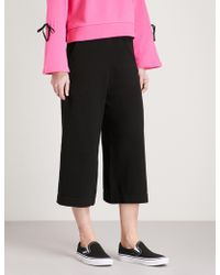 5cm - Wide-leg Knitted Stretch-cotton Trousers - Lyst