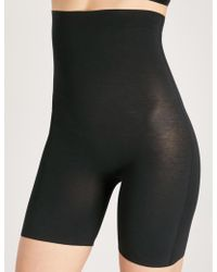 89a9c953ef27 Wolford Shape & Control Tulle Contour Shorts in Natural - Lyst