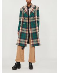 Vivienne Westwood - Princess Double-breasted Checked Wool Coat - Lyst