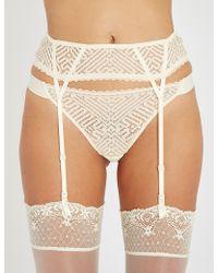 Heidi Klum - Holly Rendezvous Lace Suspender Belt - Lyst